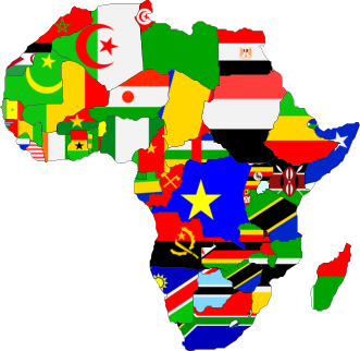 Africa made of Country Flags