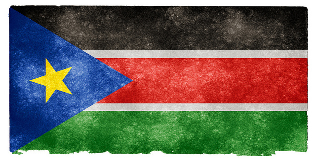 South Sudan Grunge Flag  by Free Grunge Textures