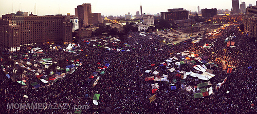 Tahrir Square Panorama by Mohamed Azazy on Flickr
