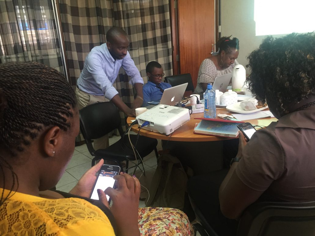 Working on mobile solutions for data collection on disability and public services. AKVO FLOW training with UDPK, Kenya - courtesy of AKVO