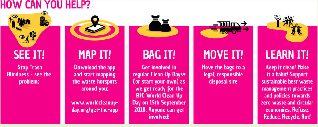 Five steps to World Cleanup Day Infographic
