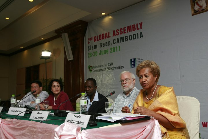 Emele Duituturaga Speaking at the Open Forum 2nd Global Assembly 2
