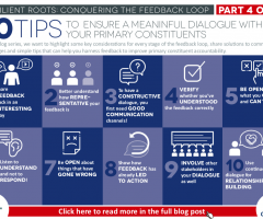 10 tips to  ensure a meaningful dialogue with your primary constituents