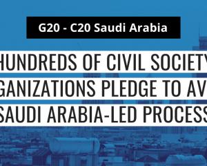 G20: Hundreds of civil society organisations pledge to avoid Saudi Arabia-led process