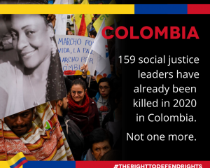 Joint letter on Colombia: COVID-19 cannot be a smokescreen to target social leaders