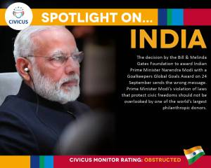 Gates Foundation award to India's Modi a setback for civic freedoms and democratic values