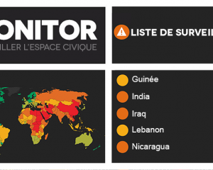 Mise à jour de la liste de surveillance du CIVICUS Monitor