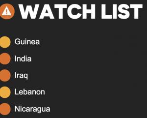 5 pays sur la liste de surveillance de l'espace civique présentés au Conseil des droits de l'homme