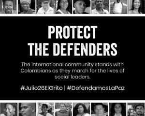 We Too Demand Peace: International Civil Society Organisations Join with Colombians Marching for Peace