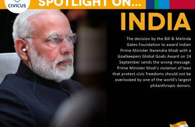 Gates Foundation award to India's Modi a setback for civic freedoms and democratic values