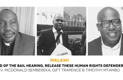 Malawi:  Leading civil society organisations call for immediate release of human rights defenders