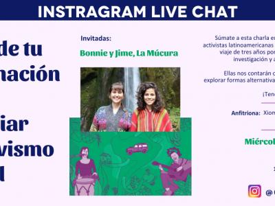 Instagram Live Chat: Artistas latinoamericanas compartirán formas creativas para financiar el activismo juvenil