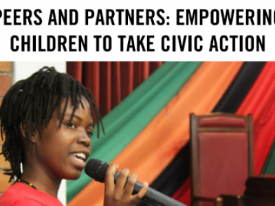 Peers and Partners: Empowering Children to take Civic Action