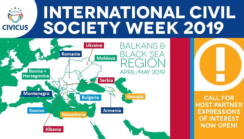 Call for Expressions of Interest to Host International Civil Society Week April/May 2019: Balkans and Black Sea Region*